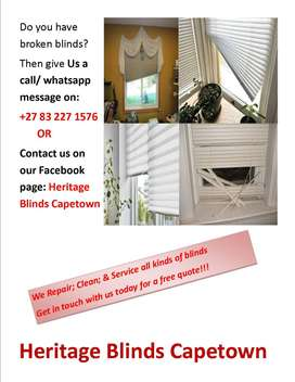 We sell, repair, service and clean all types of blinds