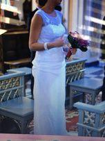 Suknia ślubna biała zwiewna lekka