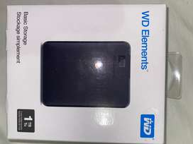 Unused brand new WD Elements 1TB Hardrive