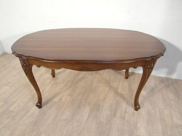 Rzeźbiona stylowa ława, stolik kawowy Ludwik Filip w idealnym stanie ! Łódź - image 1