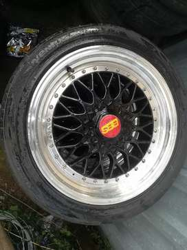 """17"""" BBS alloys all narrow 8holes with center caps and fresh tyres"""