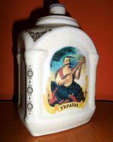 Бутылка керамическая с украинской символикой