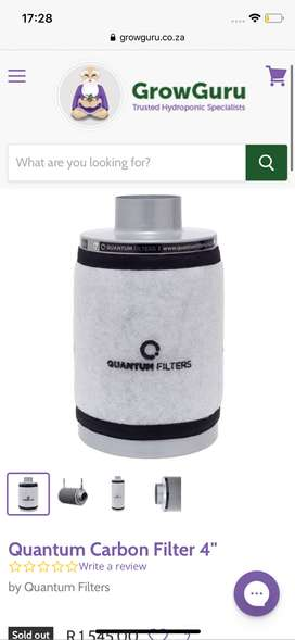 "Carbon filter 6 "" Brand new"