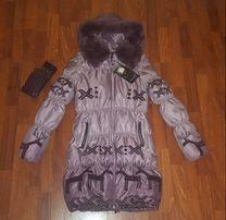 Новый пуховик ATHENA р.M (44) Турция зимний пальто куртка парка кролик