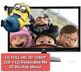 LG FULL HD 3D 1080P LED Plus Despicable Me 3D Blu Ray Movie