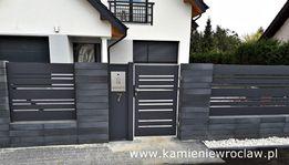 Ogrodzenia nowoczesne bramy, furtki, przęsła aluminiowe