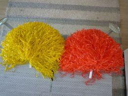 Pompony cheerleaderskie żółty i czerwony