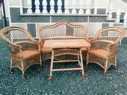 Комплект мебелі з лози (Мебель садова з лози)