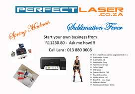 Start your own business with a Perfect Laser Heat press special
