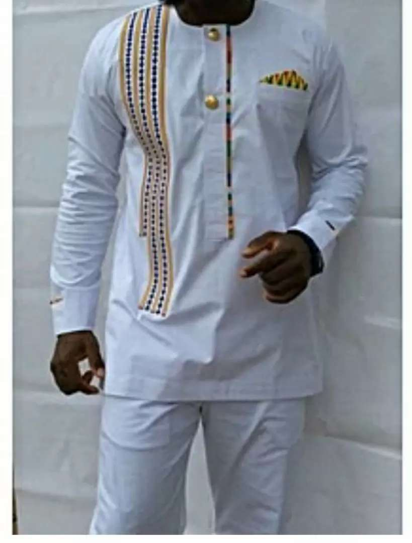 African  embroided suit 0