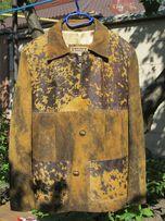 Пиджак из натуральной кожи с мехом нерпы