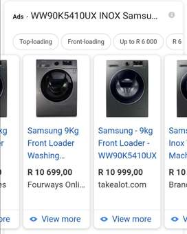 Samsung 9 kg front loader washing machine