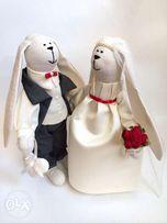 Жених и Невеста молодожены подарок на свадьбу юбилей годовщину девични