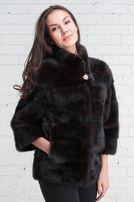 Женская норковая шубка (полушубок, шуба, мех) автоледи, Saga Furs