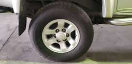 Original Toyota Hilux Rims and Tyres
