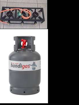 3-plate gas bGas burner and 9kg gas bottle for sale r sale