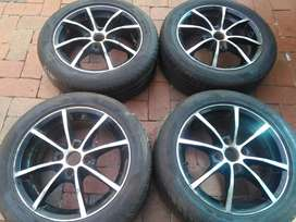 15inch TSW mag rims and tyres for sale fits Opel Corsa
