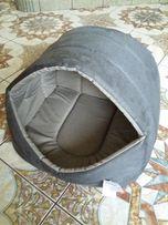 Budka owalna popielato-beżowa 52x47x35 dla psa - polski producent