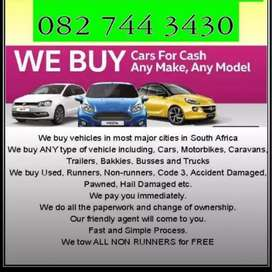 Vehicles bought in any condition! Call/WhatsApp