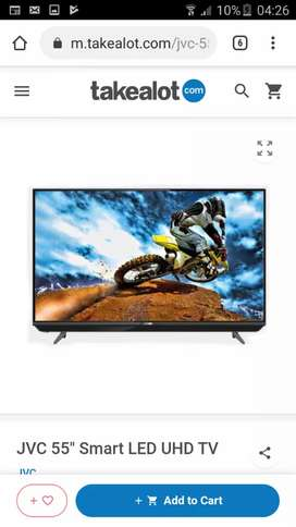 JVC Smart Share 4k UHD smart Tv with builtin SOUNBAR. 5.5k neg