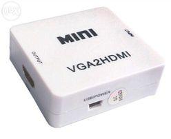 Конвертер VGA to HDMI + аудио / HDMI to VGA + аудио (Наличие)