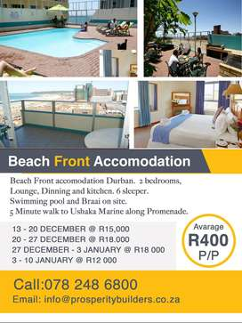 DURBAN HOLIDAY BEACHFRONT ACCOMMODATION
