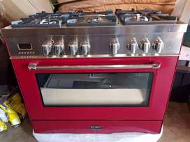 Brand new 5 plate gas stove with electric oven and warmer drawer