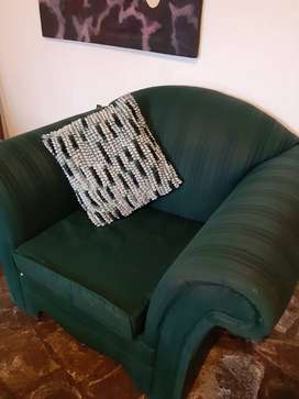 Stately Green Armchair