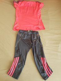 Rezerwacja Bluzka getry legginsy gimnastyczne strój fitness addidas S