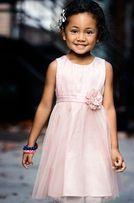 H&M wizytowa sukienka dziecięca na wesele 122 cm 6-7 lat pudrowy róż