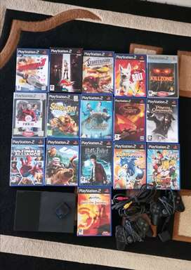 Ps2 + 17 games + drive pro steering. You set the price