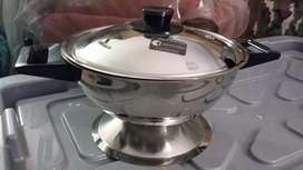 S/steel soup/curry & rice serving dish brandnew
