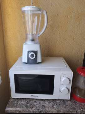 Blender and microwave for sale.