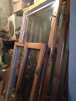 Продам 3 окна б/у сосна, рамы, стекла, подоконники.