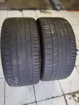 2 very good continental contactsport5 runflats 255/35/19  for sale