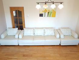 Zestaw wypoczynkowy komplet mebli skóra sofa kanapa fotele