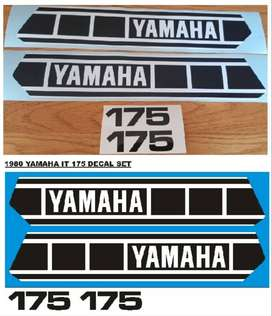 1980 Yamaha IT 175 tank and side panel decals stickers graphics kits