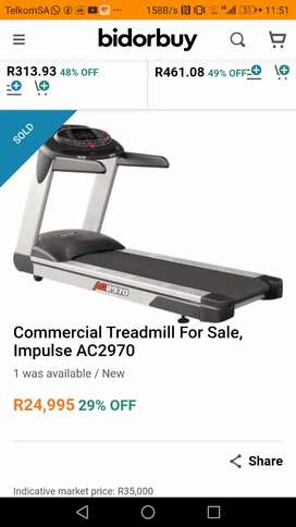 Impulse accept 2970 treadmill