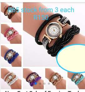 ladies watch shoes and earings
