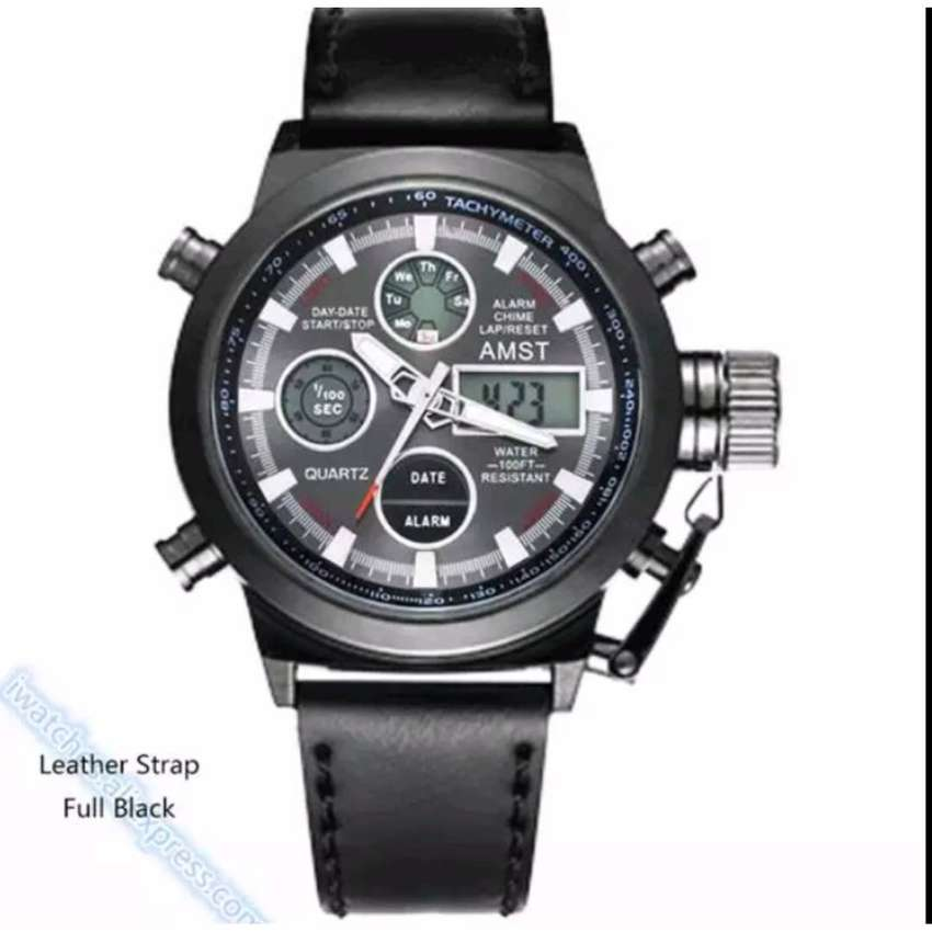 Men's Military Watch High Quality Watch Genuine Leather 0