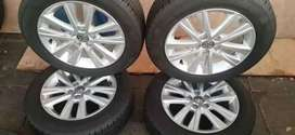 a set of polo Tsi Rime and tyres for sale size