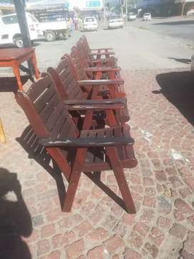 Wooden patio chairs R250 ea