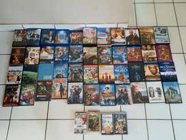 An assortment of DVD's and Blu-Ray's