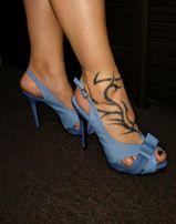 Piekne niebieskie sandały szpilki wysoki obcas 13cm r 41 JENNIKA