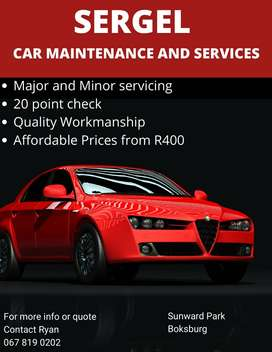 SERGEL CAR MAINTENANCE AND SERVICING
