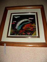 """Продам картину И.Буяновой """"Морина-рыбки"""",абстракция,2003 год,оригинал."""