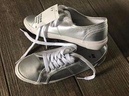 Buty damskie srebrne H&M - rozmiar 38 - NOWE !!!