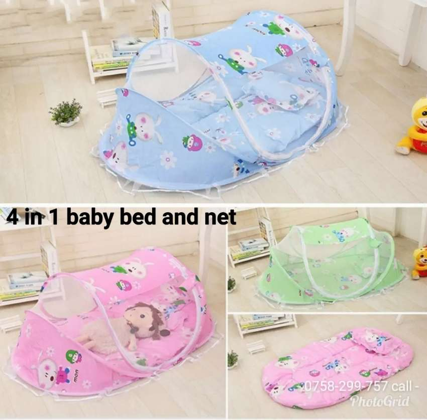 4 in 1 Mobile baby bed and net 0