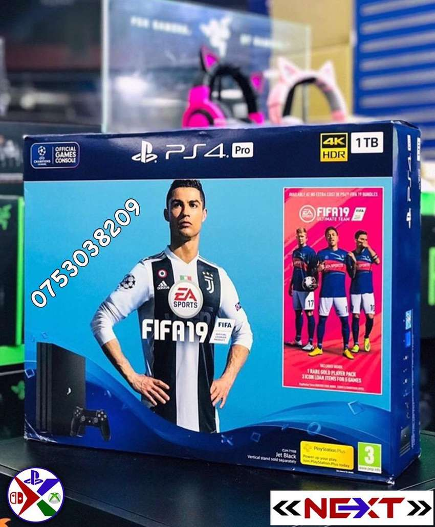 PS4 Pro FIFA 19 Bundle. experience the next level of gaming in 4k HDR 0