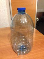 Бутыль ПЭТ пластик 5 л со штуцером из нерж. Продам